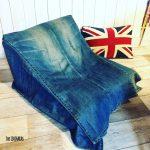 デニムと敷布団を使ってプチソファーに簡単リメイク