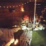 庭作りDIYソーラーライトとキャンドルで夜の空間を素敵にライトアップ