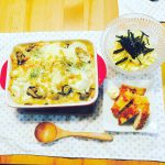 牡蠣の豆乳ペンネグラタンレシピ
